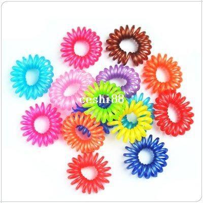 200pcs / lotto di trasporto strumento di styling dei capelli di moda, cavo telefonico hairbands elastici, accessori per capelli all'ingrosso Ll-01-150