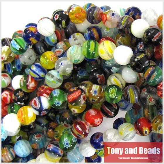 8mm multicolor lampwork glass round beads.jpg
