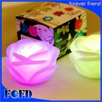 gül çiçek mumları toptan satış-Değiştirilebilir Renk LED Gül Çiçek Mum ışıkları led aydınlatma ışıkları güller aşk lambası
