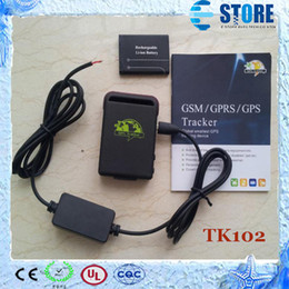 Wholesale Gps Car Tracking Kids - TK102 4 Band Mini Car GPS Tracker, GSM GPRS Tracking Device For Vehicle Person Kids Pet Elderly Security,M