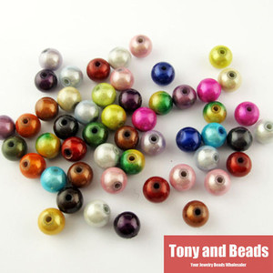 Wholesale Shining Mixed Acrylic Jewelry Round Loose Spacer Beads Charms MM Pick Size For Jewelry Making AC8 findings DIY
