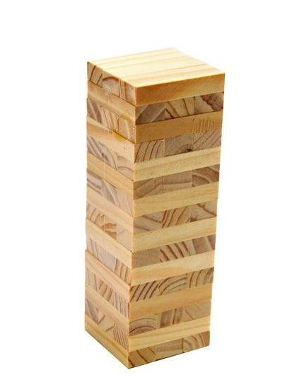 Jenga Wood Stacked Bricks 40 Bricks Table Game Board Game Rules Fascinating Wooden Bricks Game