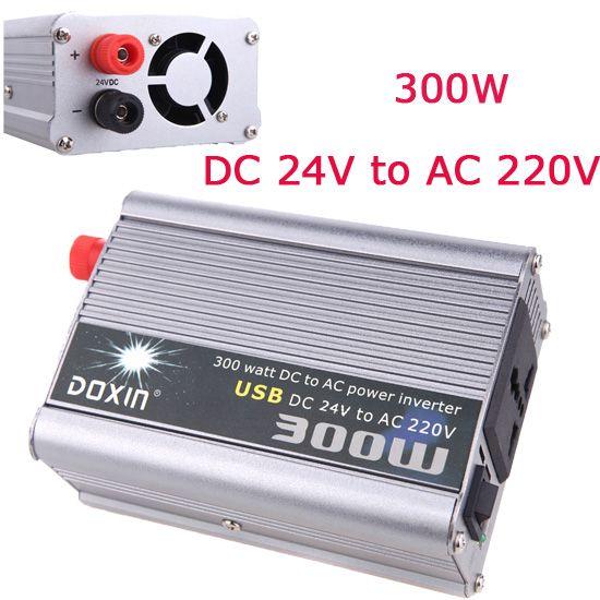 300w Watt Car Power Converter Inverter 24v 220v Dc 24v To