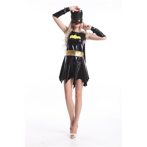Leather Batgirl Costume Short Dress Sexy Black Batgirl Costume Sleeveless Strapless Batwomen Costume High Quality Leather Batgirl Costume Black Batgirl ...  sc 1 st  DHgate.com & Leather Batgirl Costume Short Dress Sexy Black Batgirl Costume ...