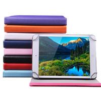 halter für tabletten großhandel-7 8 9 10 Zoll Multi-Color-PU-Ledertasche mit Ständer Halter Flip-Cover Integrierte Karte geschnallt Universal-Leder-Tablet-Hülle für Tablet PC MID