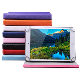 Wholesale Tablet Pc Covers China - 7 8 9 10 inch Multi-color PU Leather Case with Stand Holder Flip Cover Built-in Card Buckled Universal Leather Tablet Case for Tablet PC MID