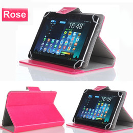 universal tab cover Promo Codes - Tablet PC Leather Cases Flip Cover Stand with Movable Hook for 7 8 9 10 inch Universal Tabletpc iPad Air 2 3 Mini Samsung Tab 3 Note