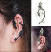 Wholesale Ear Cuff Dragon Mixed - New Arrival Punk Ear Cuff Dragon Gothic Vintage Ear Clips Alloy Cool Earrings Mix Color Earring Clips Jewelry