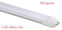 "Wholesale T8 Round - ""A""LEVEL. Round tube 20W 120CM T8 SMD 2835 140leds LED Tube 2000LM 30pcs lots, pure or warm white"