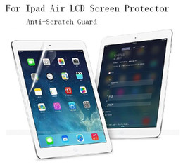 Wholesale Crystal Packaging Wholesale - 100pcs Clear LCD Screen Protector Cover Guard Film + 100pcs Cloth for iPad 2 3 4 5 6 Air Air2 Mini Mini2 Mini3 Without retail Package