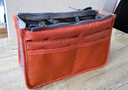 Wholesale Purse Inserts - 20pcs lot new Women Travel Insert Handbag Purse Large liner Organizer Bag Storage Bags Amazing 12 Colors