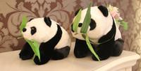 panda bear plush pelado animal venda por atacado-55 CM grande boneca panda squat super mario brinquedos de pelúcia animais de pelúcia recheado big teddy bear panda