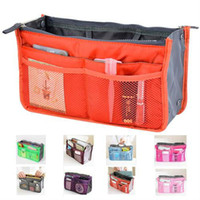 Wholesale Travel Insert Pockets - Promotions Lady's organizer bag handbag organizer travel bag organizer insert with pockets storage bags 200pcs Free Shipping