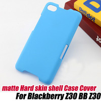 Wholesale Blackberry Protector Cover - Ultra-Thin Rubber frosted Matte Hard Case Cover for Blackberry Z30 BB Z30+screen protector, free shipping