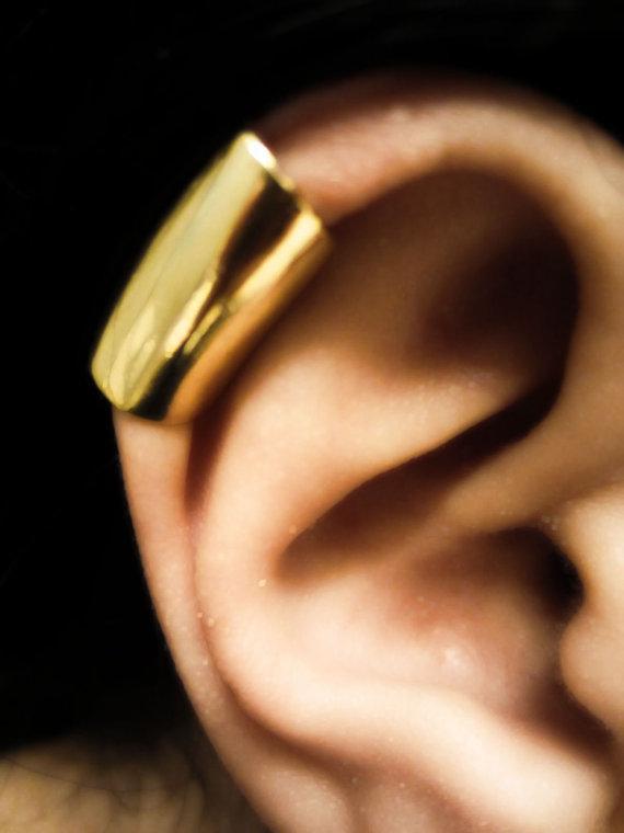 50% Rabatt auf Silber Ohr Manschette Punk Style Unisex Kupfer Ohrringe Kostenloser Versand LM-C069