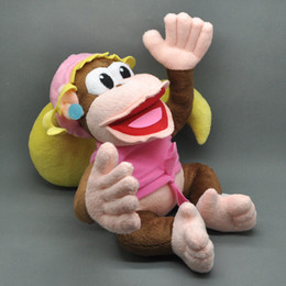 """Wholesale game kong - Free Shipping New Super Mario Bros. Plush Doll Stuffed Toy Dixie Kong 10"""" For Children Birthday Gift"""