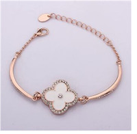 Wholesale India Rose - Hot ! 2014 New From india paint rose gold plated crystal bracelet 18k female