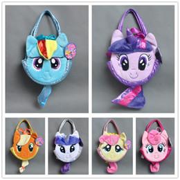 Wholesale Girl Pies - Free Shipping My little poni Pet Carrie PLUSH Hand BAG Rainbow Dash Rarity Twilight Sparkle Applejack Fluttershy Pinkie Pie For Children
