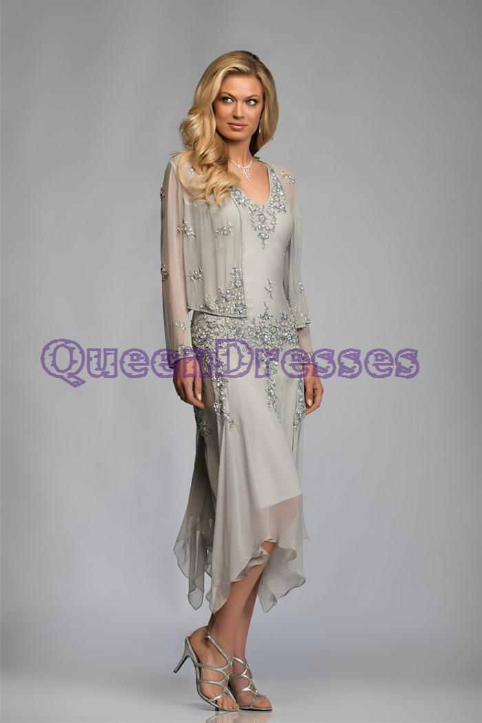 mother of the groom dresses for outdoor wedding. 2015 silver tea length mother of the bride groom dresses with . for outdoor wedding
