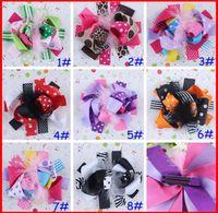 clips de cebra al por mayor-Envío gratis INS 20 unids niñas 5-6 '' boutique funky punto punto arcos para el cabello arcos populares para el cabello clips personaje de cebra clips de flores