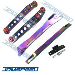 Wholesale Ek Subframe - JDMSpeed wholesale- One Set Neo Chrome Rear Lower Control Arm Subframe Brace Tie Bar For 1992-1995 Honda Civic EK