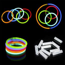 Discount fluorescent toys wholesale - Festival Lighting LED Light Sticks Fluorescent Bracelets Sticks Night Light Glow Sticks Bracelet LED Toys Christmas Hall