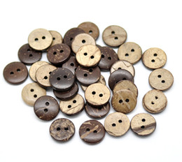 "Wholesale Coconut Wholesale Free Shipping - New Free shipping hot sale 200PCs Brown Coconut Shell 2 Holes Sewing Buttons Scrapbooking 13mm(1 2"")Dia."