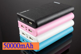 Wholesale External Battery Wallet - 50000mAh Universal Backup 2 USB Battery Wallet Power Bank Pack Charger External Battery For iphone 6 iphone 5s Samsung galaxy s5