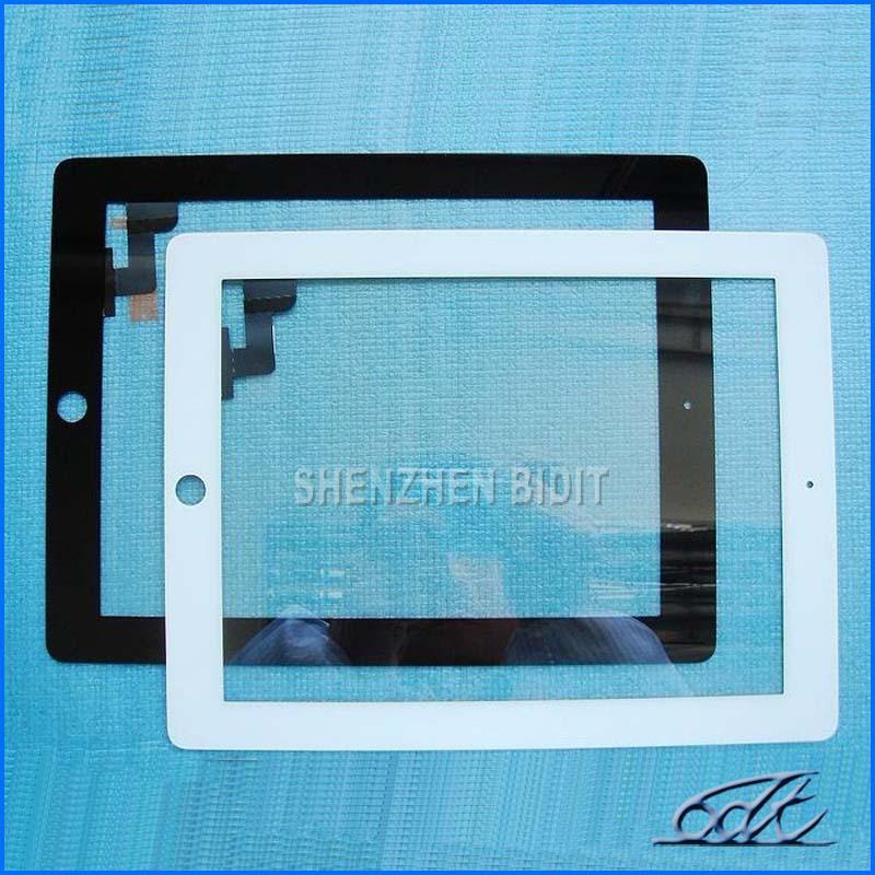 Para el panel de la pantalla táctil del iPad 2, las piezas de repuesto del digitalizador de vidrio, negro, blanco, TA-001, libera DHL