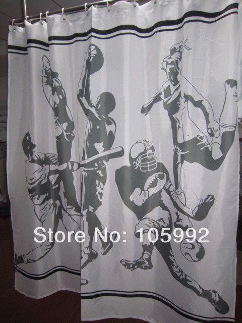 American Baseball Boy Shower Curtain 180cm*180cm New Style Shower ...