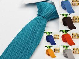 Wholesale Wool Shirts For Men - neckties for men knitting neck ties brand ties stripes print men's neck ties dress shirt 5 pcs lot