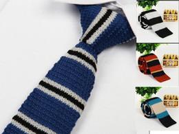 polka dot dress shirts for men 2018 - skinny neckties for men knitting neck ties brand ties stripes print men's neck ties dress shirt 2 pcs lot cheap pol
