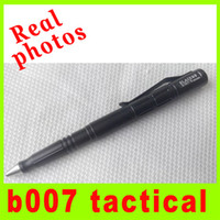 Wholesale Knife Photos - 2014 Real photos LAIX B007H Military Outdoor Tactical Pen Aluminum glass hammer rescue tools camping tools survival gear knife L