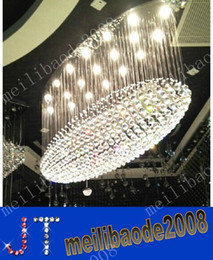 Wholesale Transparent Europe - free shipping Oval chandelier chandelier Hotel Grand crystal chandeliers of large chandelier Club Villa living room lamp MYY9610