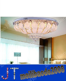 Wholesale Modern Fashion K9 Crystal - Modern Fashion Glass K9 Crystal LED Ceiling Lamp Crystal Chandelier Remote Control Light Dia 800mm MYY2056