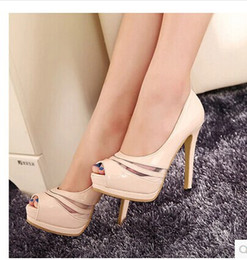 Wholesale Wedding Shoes Taiwan - Free shipping! HOT Woman's fashion PU Waterproof Taiwan High heels uAQ003