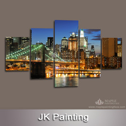 Wholesale Canvas Wall Art Ideas - Free shipping Modern Canvas Wall Art Painting Idea of Bridge 3D Wall Pictures for Living Room Large Canvas Prints -- Modern Paintings Canvas