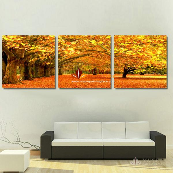 3 Piece Canvas Art Painting Modern Canvas Prints Artwork Of Landscape Painting Pop Art Canvas Wall Pictures For Living Room