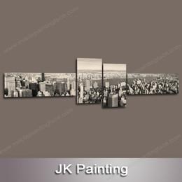 Wholesale Grande Painel Da Arte Da Lona Pintura Decorativa de Edifícios Da Cidade Imagem Da Parede na parede Pintura A Óleo Da Paisagem Repro Cópia Da Arte