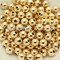 Wholesale Bead Loose Fill - Wholesale 20beads lot quality pure copper rolled 14k gold filled 2-10mm spacer round Loose beads jewelry making no fading