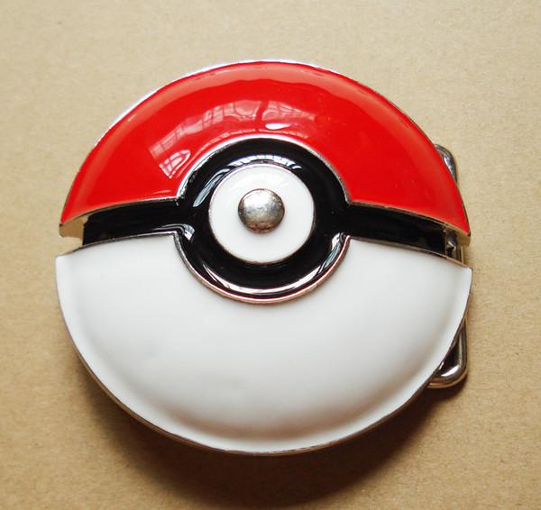 La hebilla de cinturón Pokeball adecuada para cinturón ancho de 4 cm. Envío gratis