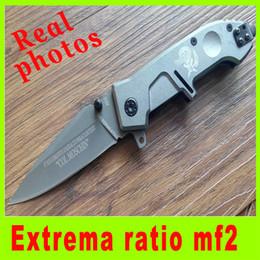 L facas on-line-Fotos reais EXTREMA RATIO MF2 X02 440C 57HRC Assistir faca Dobrável Caça Luta Facas de sobrevivência ao ar livre engrenagem faca de Xmas presente L