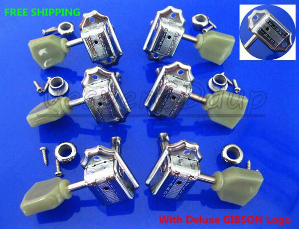 online cheap new chrome guitar parts 3r 3l tuning pegs machine heads tuners with deluxe seal. Black Bedroom Furniture Sets. Home Design Ideas