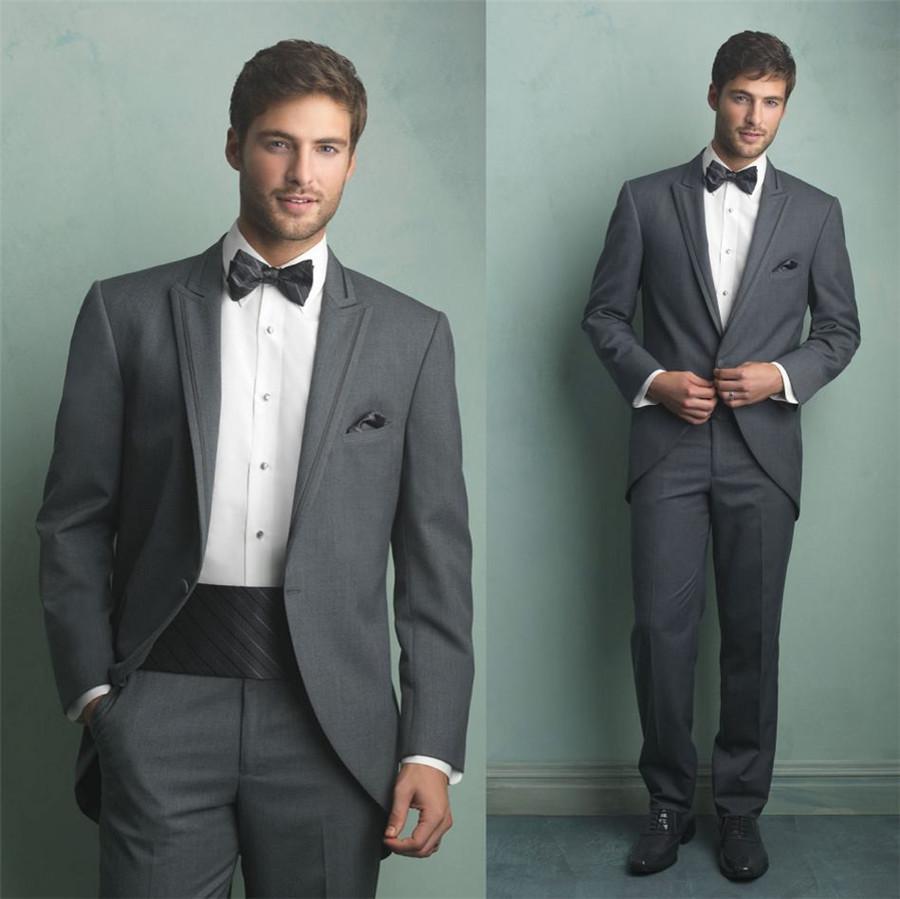 2017 Formal Dress Coat Grey Custom Made 2014 New Fashion Groom ...