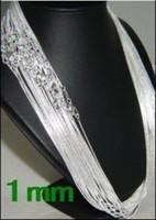 925 silbernes kettenporzellan freies verschiffen großhandel-5 lose -1 MM 16 '18' 20 '22' 24 '925 Silber Kette Halskette Hohe Qualität mit freies DHL verschiffen 1016