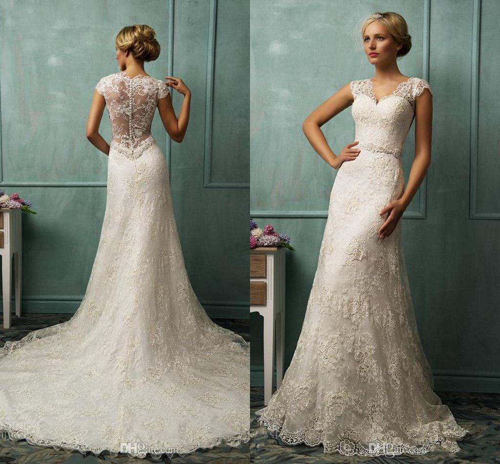 Lace Covered Back Wedding Dress Wedding