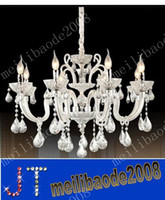 Wholesale Candle Shape Chandelier - 62*62*55CM new modern garland vintage ceiling lamps hanging lamps 6 candle shaped lamps black chandelier lights MYY2062