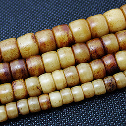 Wholesale Tube Pick - Vintage Natural Bone Beads 5x7mm 6x8mm 7x10mm 8x12mm U-Pick Size Cylinder&Tube Brown Colour Spacer Loose Beads Fit Bracelet DIY Accessories