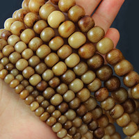 Wholesale Natural Coral Beads Loose - Vintage Natural Yak Bone Beads 4x6mm 6x8mm 7x9mm 9X11mm U-Pick Size Round Roundel Ball Brown Colour Spacer Loose Beads Fit Bracelet