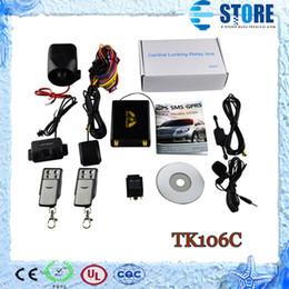 Wholesale Band Sensor - Newest GPS GSM Tracking System Car GPS Tracker TK106C with 2 Remote Controller Shock Sensor Quad-band Support Fuel Sensor Camera,M